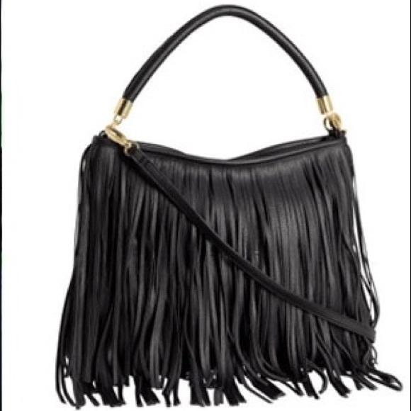 H M Handbags - Black Fringe Purse cca25600f28a9
